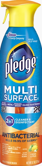 Pledge® Clean It Multisurface Everyday Cleaner Antibacterial Fresh Citrus