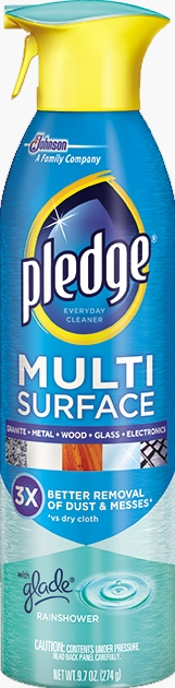 pledge multi surface everyday cleaner with glade rainshower sc johnson. Black Bedroom Furniture Sets. Home Design Ideas