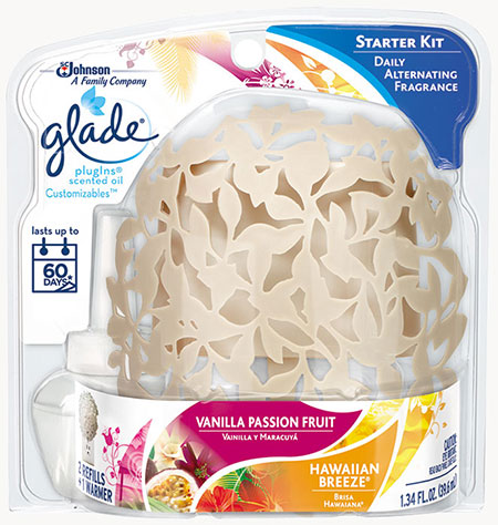 PlugIns® Scented Oil Warmer Customizables™ - Hawaiian Breeze® & Vanilla Passion Fruit