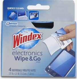 Windex® Electronics Wipe & Go Wipes (Discontinued)