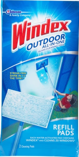 Windex® Outdoor All-in-One Glass Cleaning Refill Pads