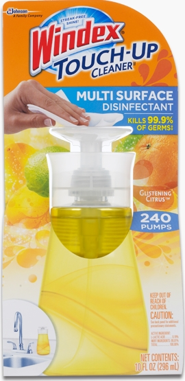 Windex® Touch-Up Cleaner Multi Surface Disinfectant - Glistening Citrus®