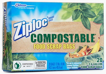 Ziploc® Brand Compostable Food Scrap Bags