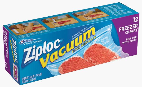 Ziploc Brand Vacuum Freezer Bags